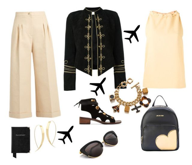 """""""Airport clothes"""" by susanscarter on Polyvore featuring Yves Saint Laurent, Lana, See by Chloé, Fendi, Nomia, Aspinal of London, Love Moschino and Orla Kiely"""