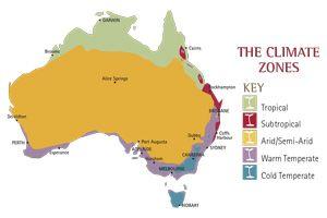 Organic Gardener Australian Climate Zones & seasonal planting guide.
