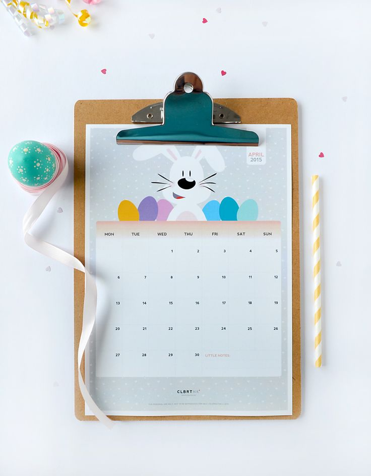 FREE Printable April Calendar + Gift Tag from Celebratink