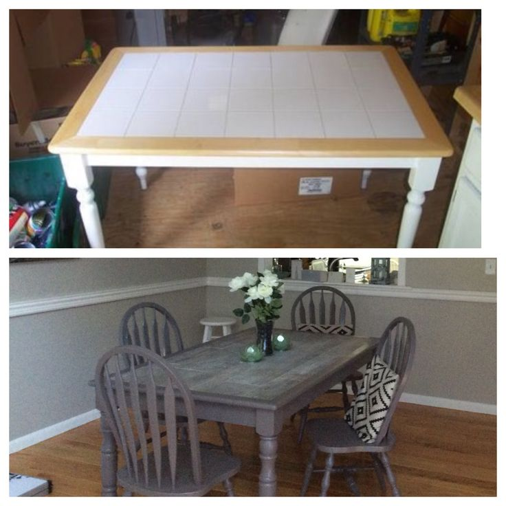 Kitchen Table Top Tiles: 25+ Best Ideas About Refurbished Dining Tables On