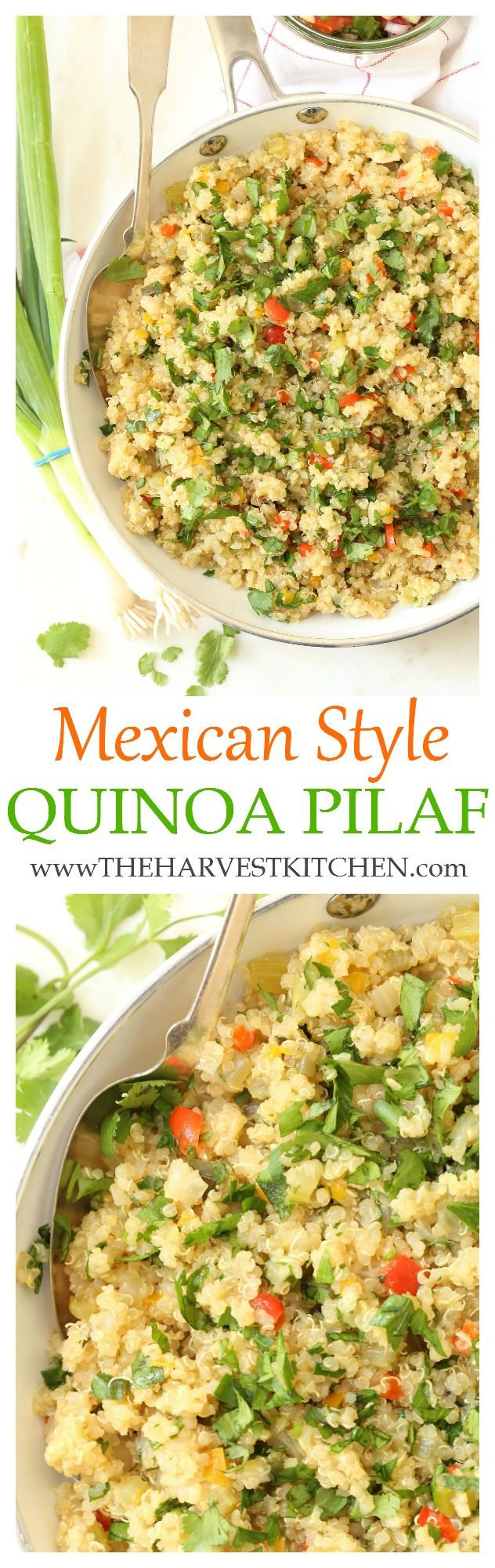 This one-pot Mexican Quinoa Pilaf  has a delicious combo of Mexican infused flavors,  it's super easy to make and it turns out perfect every time!