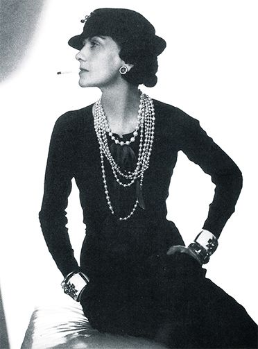 Coco Chanel, 1935.    Photo by Man Ray
