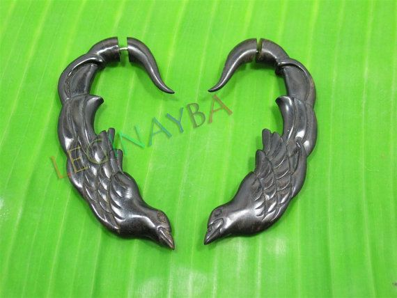 bird wooden tribal earrings by Leginayba on Etsy, $6.99  #organic #eco #natural #WoodAccessories #Earrings #Bali