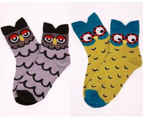 Baglyos színes zokni - őszi - tavaszi - téli. Bagoly mintájú színes vicces zokni egy méretben.