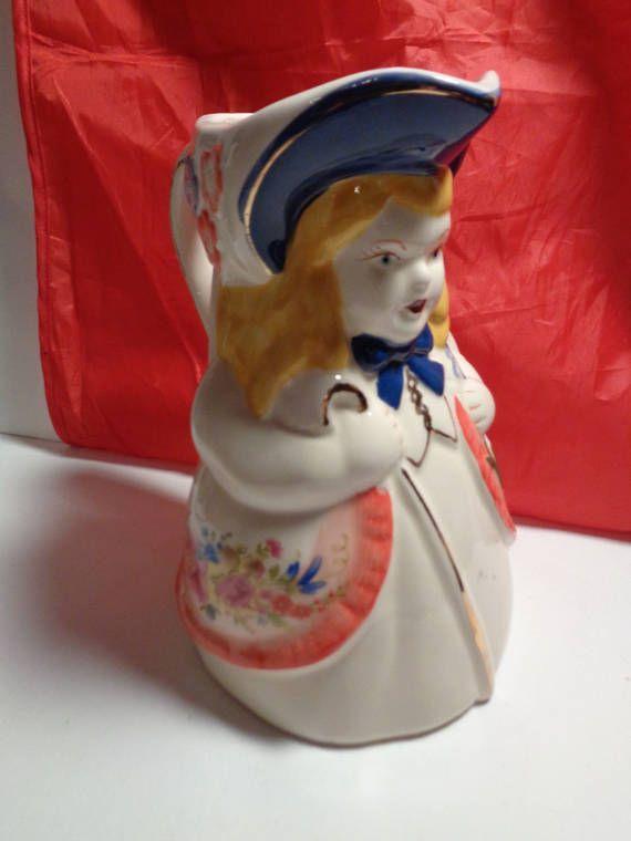 Vintage Shawnee Pottery Little Bo Peep Milk Pitcher