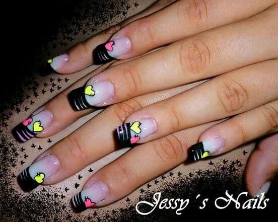 Black & yellow - fucsia