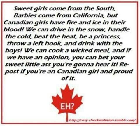 Proud to be a Canadian Girl!!