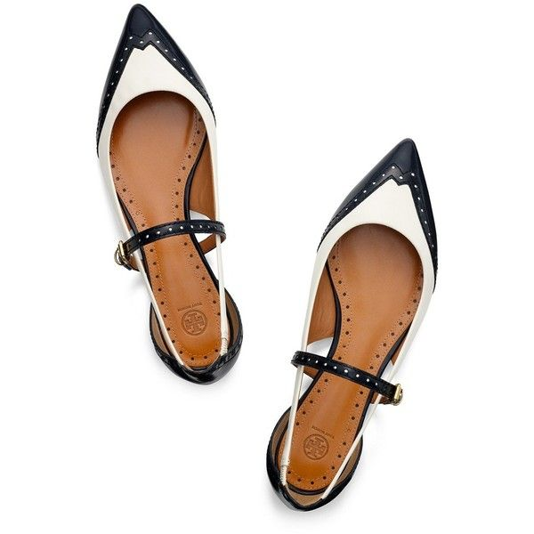 Tory Burch Bernadette Flat (€140) ❤ liked on Polyvore featuring shoes, flats