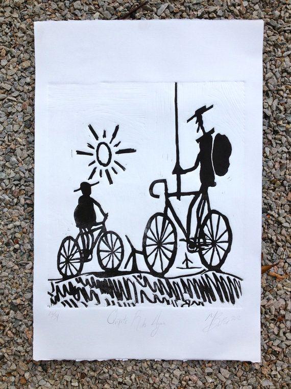 Quijote y Sancho en Bici