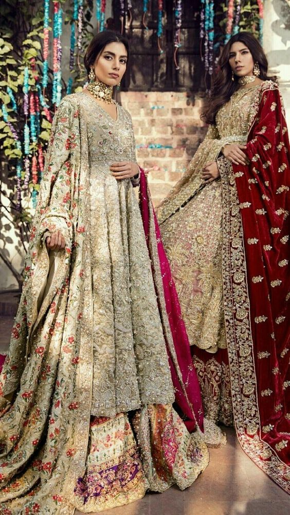 ad7db8e30 Pakistani Bridal Dresses for Barat Day In Pastel Color | Pakistani ...