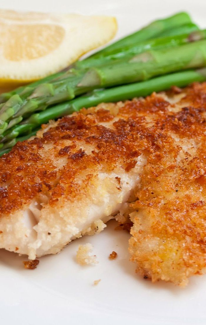 Parmesan crusted tilapia recipe recipes pinterest for Parmesan crusted fish