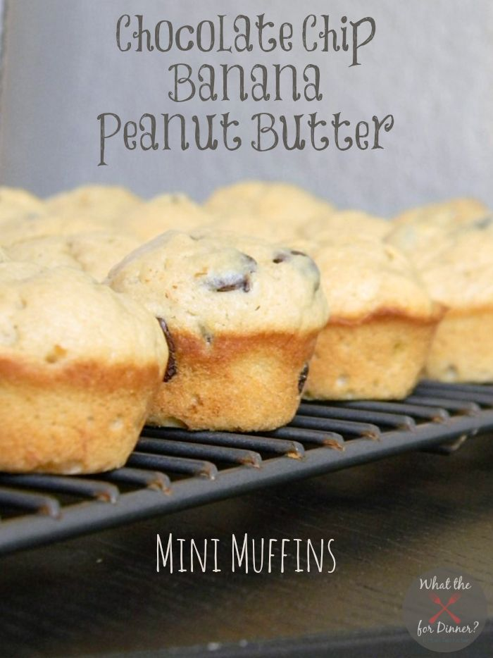 peanut butter muffins chocolate chips chocolates chips mini muffins ...