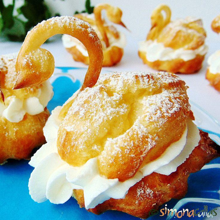 Choux Pastry Swans, Swan Pâte à Choux