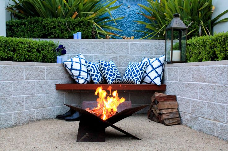 Settle in to a night of stories and laughter with friends around the Fire-Away fire pit. The perfect centrepiece for any Terrace garden. www.fire-away.com.au