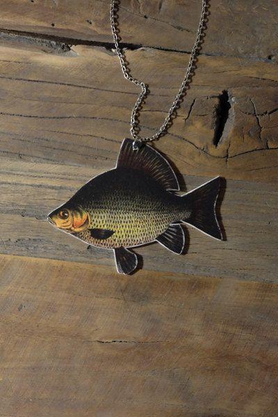 Big vintage fish necklace by Little Rat´s Boutique. #handmade #diy #jewellery #jewelry #vintage #etsy #statementnecklace #fish #bignecklace