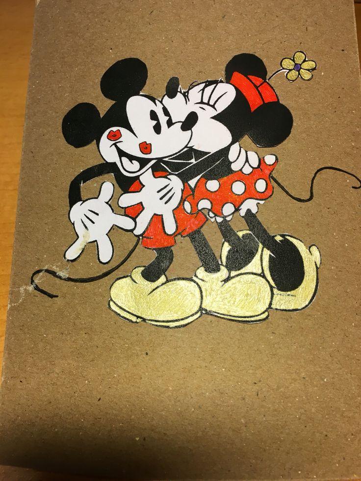 Kärlekskort Love card Disney Minnie Mickey