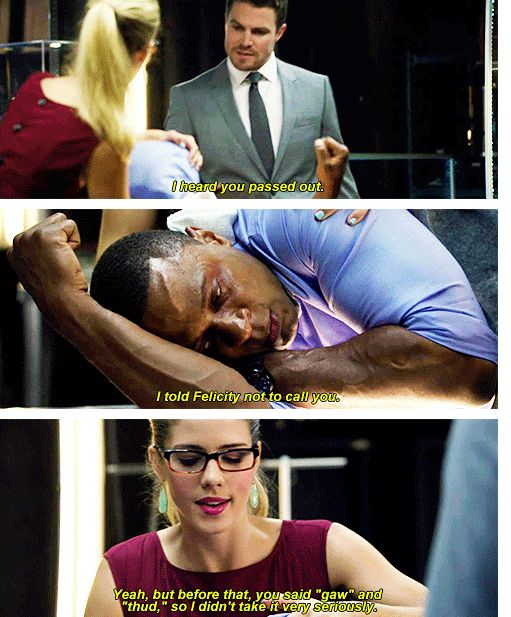 Arrow - Felicity, Oliver & Diggle #2.7 #Season2