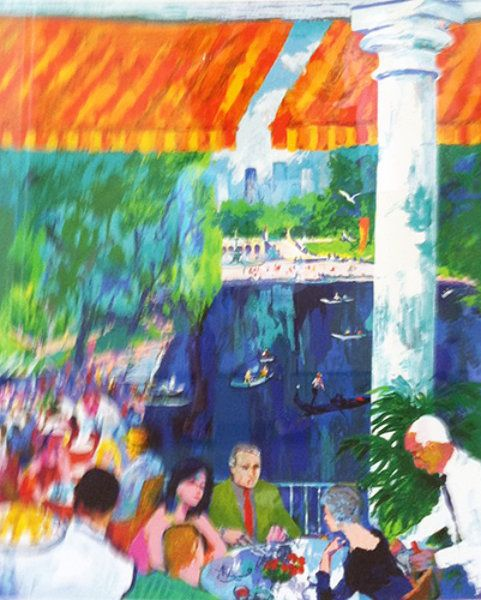 "Limited Edition Print ""Boat House, Central Park, New York"" by LeRoy Neiman"