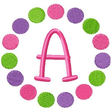 FREE Multi Circles Font Frame | Free Machine Embroidery ...