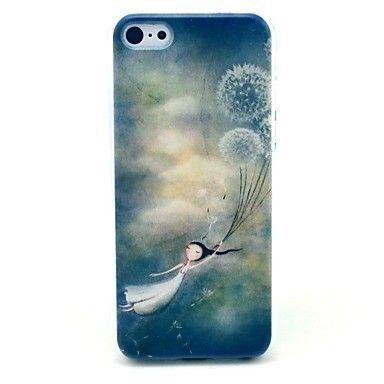 Dandelion Girl Pattern Hard Case for iPhone 5C – EUR € 2.87