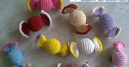 Sweet candies... I love it.. This amigurumi is one of my favorite. It's easy, simple and no need much time to make this candy. It can be app...