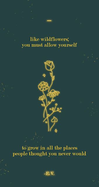 Free Motivational Phone Wallpaper: Neon Wildflowers