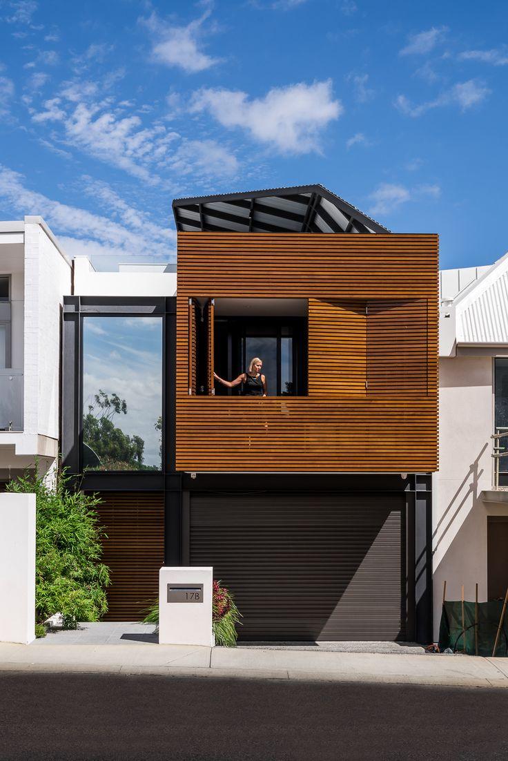 Las 25 mejores ideas sobre planos de vivienda estrecha en for Casa moderna 9 mirote y blancana
