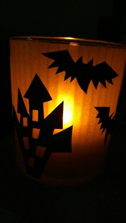 Halloweenes mécsestartó
