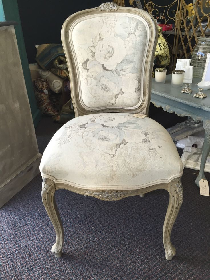 Hand painted and fully reupholstered chair