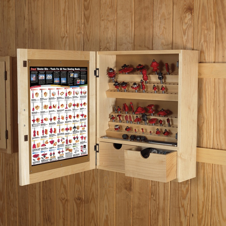 Freud Router Bit Storage Cabinet.  Want !