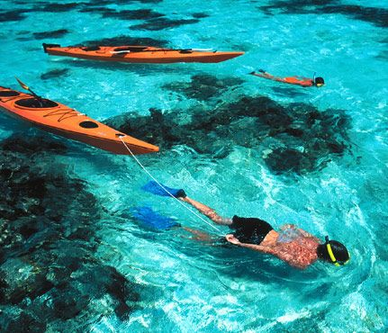 Get Fit on Vacation: Caribbean Snorkeling. Head to Belize for a seven ultra-active days of stunning snorkeling along the world's second-largest barrier reef and sea kayaking off coral sand beaches. #SelfMagazine