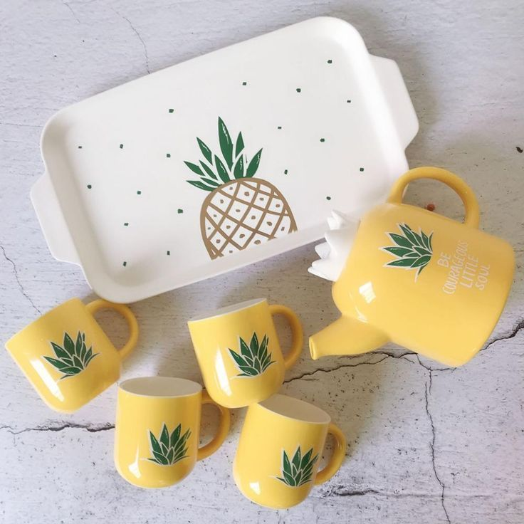 Pineapple Teapots Pineapple Pineapple Kitchen Pineapple Tea Pineapple Decor