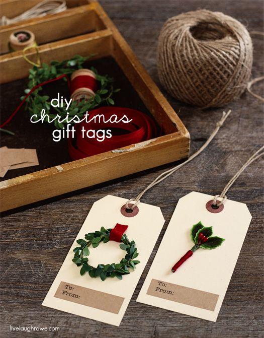 DIY Christmas Gift Tags with livelaughrowe.com