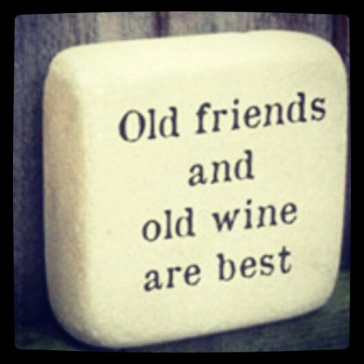 Hand-painted 'Friends & Wine' stone ornament,