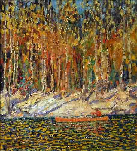 """Sunglow,"" Arthur Lismer, 1915, oil on canvas, Art Gallery of Nova Scotia."