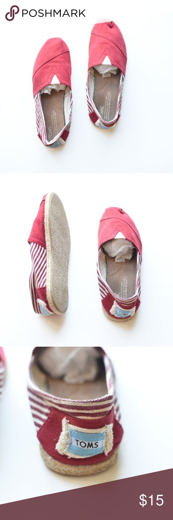 TOMS Classic Red Comfy TOMS!  In very good condition. Minor signs of wear present. TOMS Shoes Flats & Loafers