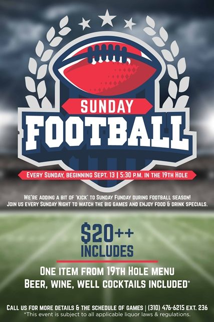 sunday football flyer poster event design template
