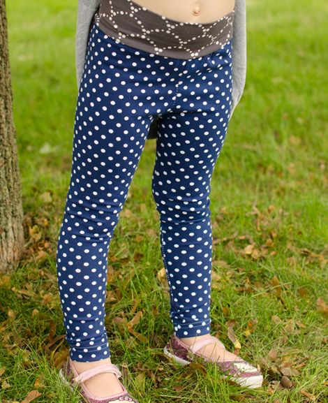leggins from Love Notions Free leggings pattern, size 2t - 14.  Elastic or yoga waist