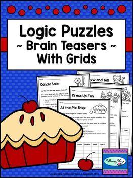 Logic Puzzles - Brain Teaser Puzzles with Grids - Set 1 ($)