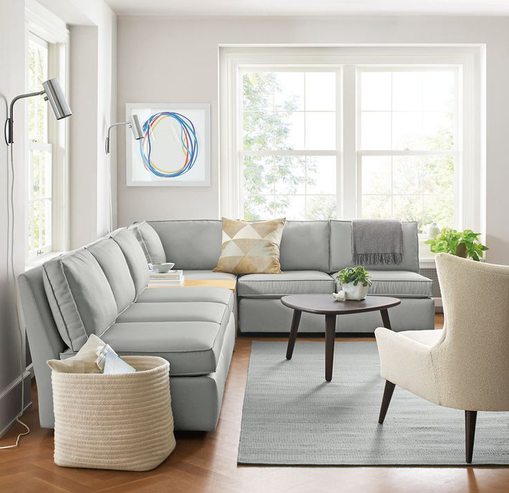Modern Corner Sofas For Small Rooms Modern Living Room Furniture - Room & Board Perfect For