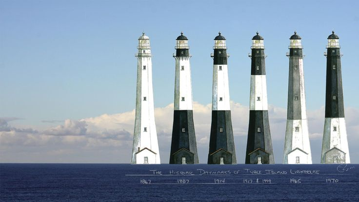 The historic changes to the Tybee Island Light Station. # ...