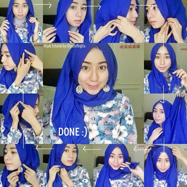 Beautiful Hijab Tutorial To Wear With Earrings