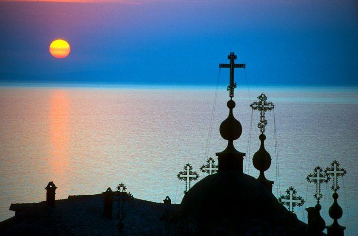 """""""Religious"""" sunset at Agios Panteleimon, Athos Holy Mount ~ Chalkidiki"""