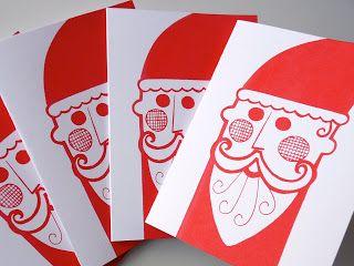 Jane Foster Blog: Screen Printed Santa Cards