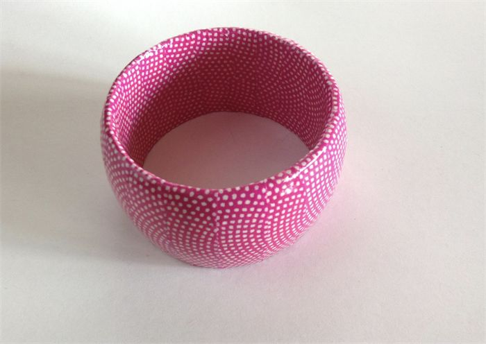 Gorgeous Pink and White Bangle
