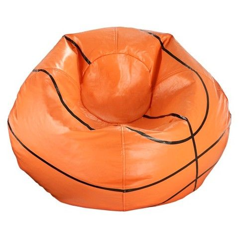 Ace Bayou Basketball Bean Bag Chair Matte Orange