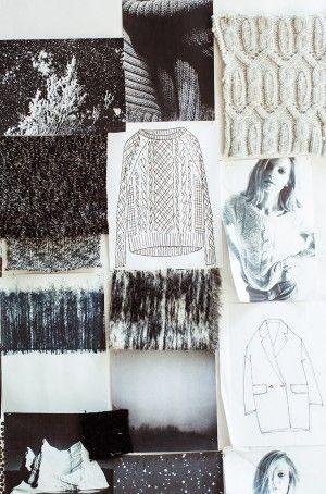 Fashion Moodboard - knitwear collection inspirations, fashion design creative process // Nili Lotan for J.Crew