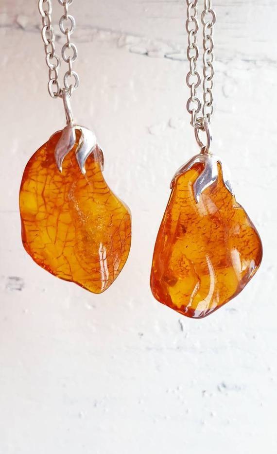orange boho chic pendant yellow Baltic amber necklace Baltic amber pendant Genuine Baltic amber Baltic amber jewelry gift ideas