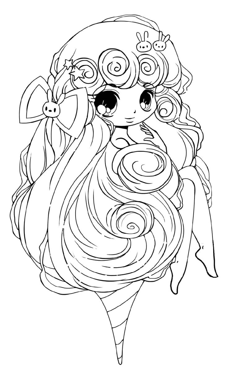 Chibi Girl Coloring Pages Good Style for Children