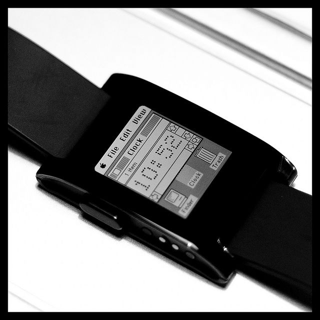 Pebble Smartwatch with Mac OS watchface   Flickr - Photo Sharing!